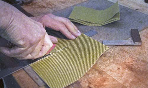 Cutting Tweed Samples