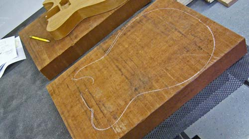 Mahogany Body Blanks